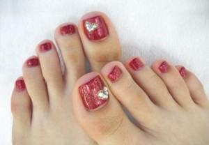 Oriental Beauty of the Feet with nail polish - Nail Services in Rufford Notts UK - 'Healthy Looks' Beauty Salon