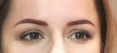Eyebrow after Permanent MakeUp - micropegmantation in beauty salon Healthy Looks in Rufford Newark UK